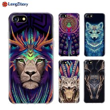 Fashion Colorful Bird Wolf Ultra Thin Slim Soft Rubber TPU Cellphone Protective Case Cover for iPhone 7 7Plus 6s 6sPlus