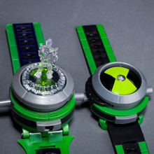 American Anime BEN 10 Ultimate Omnitrix Projection Toy Watch Kids Sound and Light Watch-Toy Best Girl Boy Gift(China)