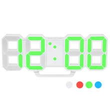 LED Digital Wall Clock 12H/24H Time Display With Alarm and Snooze Function Adjustable Luminance Wall Watch In The Living Room