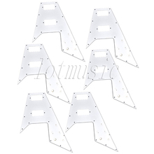 6Pcs White 3-ply PVC Pickguard for Gibson Flying V Guitar Replacement