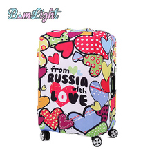 Bomlight Colorful Luggage Cover Protector Suitcase Cover for 18-28 inch Trunk Case Trolley Case New Travel on Road Luggage Cover(China)