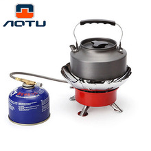 AOTU Portable Windproof Camping Stove Outdoor BBQ Gas Burners for Cooking Wind Shield Camping Equipment Tents Accessories HW51(China)