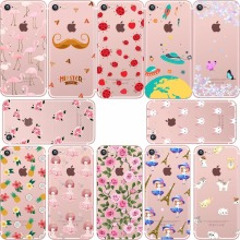 Flamingo Pineapple Flower food Donuts Lemon cat Rabbit cherry soft silicone case cover for Apple iphone 6 7 plus 5S SE coque