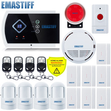 Supported APP GSM alarm system Voice burglar Fire Smoke Sensor Alarm System Wireless SOS Panic Button Smart Security