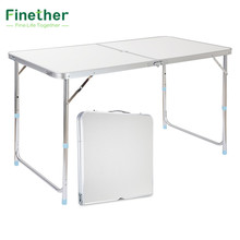 Finether Portable Aluminum Folding Outdoor Table Ultralight Height-Adjustable Table for Dining Picnic Camping BBQ Party Camping