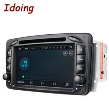 Idoing 2Din Steering Wheel For Mercedes/Benz/W209/203 Car DVD Player Android 5.1Quad Core FM GPS Navigation Radio WIFI Stereo 3G