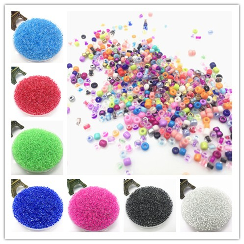 Wholesale NEW 3MM 500pcs Glass With Seed Spacer beads Jewelry Fitting mix