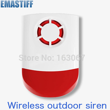 Free shipping!WIRELESS WEATHERPROOF EXTERNAL FLASH LED STROBE OUTDOOR SIREN FOR HOME GSM ALARM
