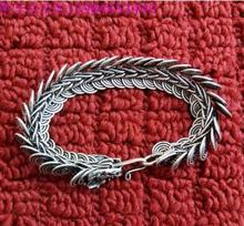 Long policy silver bracelet ethnic wind seedlings silver bracelet jewelry(China)