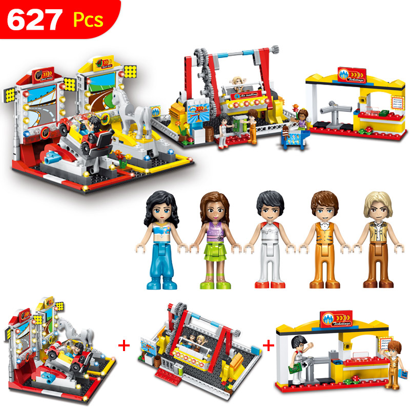 City Wonderland Playground big carnival Compatible LegoINGs Building Blocks Clever Construction Educational Toys for Children <br>