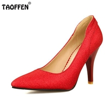 Buy women thin high heel shoes stiletto pointed toe brand female fashion heeled sexy pumps heels shoes plus big size 30-50 P16617 for $27.98 in AliExpress store