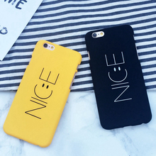 "Fashion Cartoon Nice Letter Case For iphone 6 6S Plus 6Plus 4.7/5.5"" Phone Cases Funny Smile Face Back Cover Hard Capa Coque HOT"
