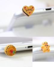 3.5mm Universal Earphone Limited Dust Plug Dachshund 2016 New Cute Small Cookies Dustproof Plug Caps Cell Phone Accessories