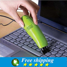 Hot selling High quality mini brush keyboard USB dust collector vaccum cleaner computer clean tools,Free shipping.(China)