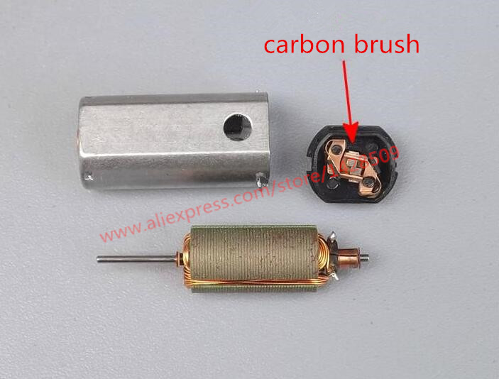 5 pcs Strong magnetic high speed motor carbon brush motor metal Micro motor 3.7V 020 Mini DC Motor 40000RPM DIY model airplane