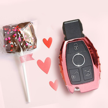 Cheeth 1 Set High Quality 2017 New Real Car Key Case Bag Cover Auto Cover Mercedes W205 GLC accessories 2015 2016 2017 2018