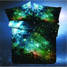 XINLANISNOW NEW 3D Galaxy Bedding Set Universe Outer Space Themed Bed set duvet cover Print Bedlinen Sheets Twin Queen Full Size