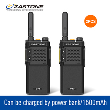 2Pcs/lot ZT-V77 1500mAh UHF 400-470MHz Walkie Talkie Set Ultra Thin Amateur Radio Transceiver Radio Communicator(China)