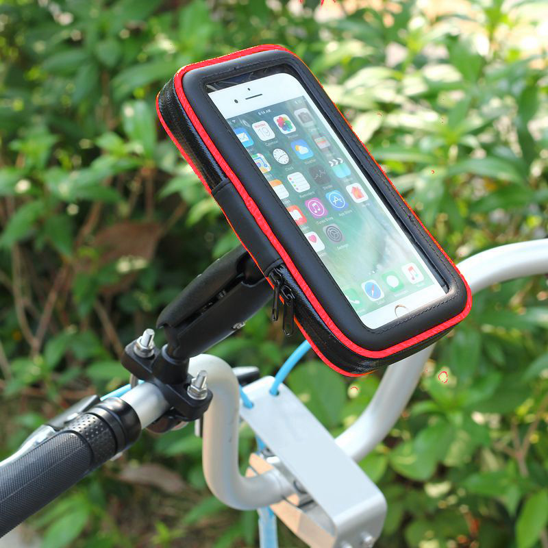 Fimilef Universal Bicycle Motorcycle MTB Bike Phone Bag Holder Front Frame Handlebar Pouch Cell Portable Waterproof Case Bracket (11)