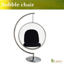 U-BEST Leisure transparent replica large ball clear hanging acrylic Eero Aarnio Bubble Chair(China)