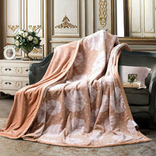 New European Style 3D Double Art Blanket Brand Adult Spring Summer Thick Warm Blanket Super Soft Coral Fleece Blanket On The Bed