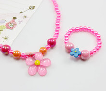 Cute Candy beads Pink Kids sets children's Hello Kitty sets pearl Jewelry jewellery Sets Hello kitty jewelry pendant nke-g37