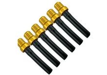 6pcs Motorcycle Fuel Gas Tank Golden Cap Breather Vent Black Hose Anti Reverse(China)