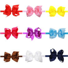 Infant Baby Kids Girls Children Lace Big Bow Knot Elastic Headwear Hairband Big Bow Knot Headband Photo Props Hair Band