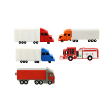 Hot cartoon pendrive fire truck usb flash drive Fire engine pen drive u disk 4GB 8GB 16GB 32GB flash memory sticks