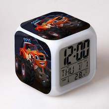 Hot Game Blaze of Glory Alarm Clock LED Colorful Touch Light Set Model Desk Toys For Kids with original box