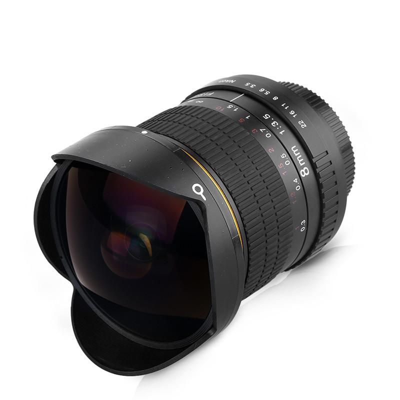 Lightdow 8mm F/3.5 Ultra Wide Angle Fisheye Lens for Nikon DSLR Camera D3100 D30 D50 D5500 D7000 D70 D800 D700 D90 D7100 3