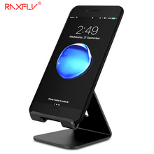 RAXFLY Universal Aluminum Metal Mobile Phone Tablet Desk Holder Stand For iPhone Xiaomi For Samsung For iPad Charger Desk Stand(China)