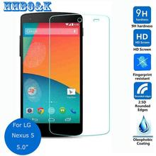 For LG Google Nexus 5 Tempered Glass Screen Protector 2.5 9h Safety Protective Film on Nexus5 D820 D821 EM01L