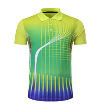 Free Printing Name Badminton shirt Men/Women , Tennis t-shirts , sports table tennis shirt , pingpong t-shirt 210AB(China)