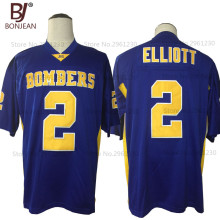 BONJEAN New Cheap Ezekiel Elliott Jersey 2# John Burroughs School Bombers American Football Jersey 2 Color Stitched Mens Shirts