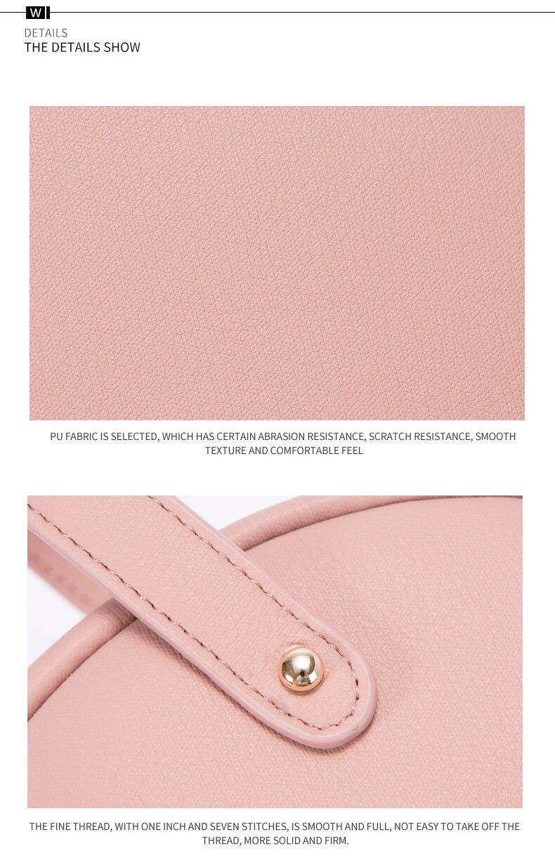 حقيبة بشكل دائري صغيرة الحجم بالوان متعددة 18