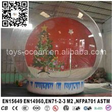 Transparent Human Advertising Inflatables Snow Globe adversting decoration