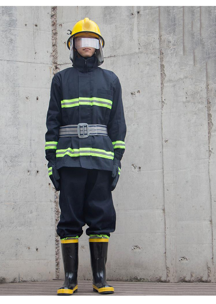 Fire Fighting Suit Fireproof Flame-retardant Protective Clothing Miniature Fire Station Full set of combat Suits Safety Clothes (33)