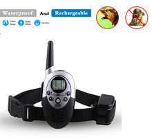 1000M Waterproof Rechargeable LCD Remote Pet Dog cat Training Collar Electric Shock Large Trainers Control Mascotas vibrador
