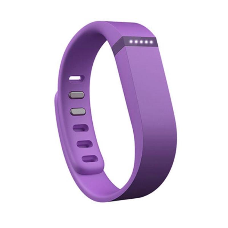 1Pcs Sports Safety Purple Replacement Wrist Band Strap With Clasp Large Size For Fitbit Flex Wristband Sports Accessories