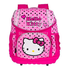 3D Orthopedic Hello Kitty Backpack Children School Bags for Girls Cartoon Schoolbag Rucksacks School Backpacks Kids Bag