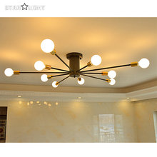 10 arm radiation shape ceiling Chandeliers retro big space indoor lighting loft Chandeliers lamp Supports E27 bulbs
