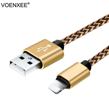 VOENXEE Nylon USB Data Charger Cable Micro USB Data Datum Charger Cable Cord Wire For iPhone 5 5s 6 6Plus 7 IOS 10.3 Power Bank