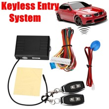 12V Auto Car Alarm Systems & Central Door Locks Locking Security Keyless  Entry Kit with Remote Control