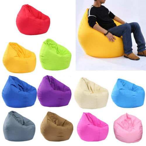 Unfilled Lounge Bean Bag Home Soft Lazy Sofa Cozy Single Chair Durable Furniture title=