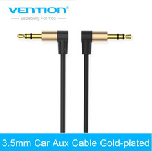 Vention Audio Jack 3.5mm Aux Cable Male to Male 90 Degree Angle Round Audio Cable for Car Headphone MP3/4