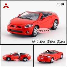 1pc 1:36 12.5 cm delicate Mitsubishi eclipse sport cars alloy model home decoration boy children baby toy Gift(China)