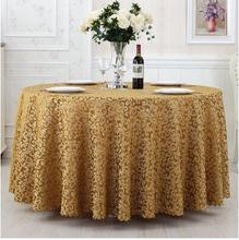 multi-purpose Luxurious Round Table Cover Rectangle Table Cloth Hotel Wedding Tablecloth Machine Washable Fabric fast shipping