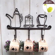 Creative Iron Hook Darden Decoration Hat Rack  Clothes Hook Fashion Iron Ear Hook 1pcs With Free Gift Cute Spoon 1pcs