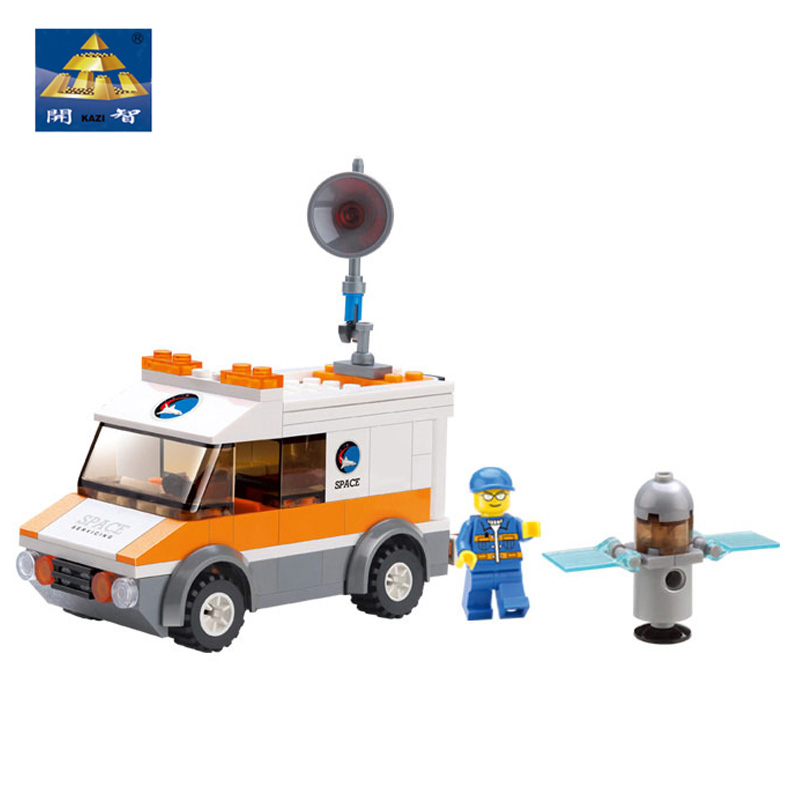 Kazi Building Blocks Satellite Recovery Car Construction Toys car &amp; driver &amp; Satellite Debris High Quality  Plastic Holiday Gift<br><br>Aliexpress
